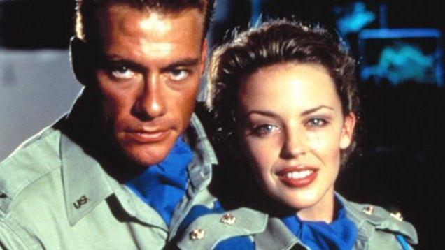 Jean-Claude Van Damme i Kylie Minogue jako Guile i Cammy w flimie Uliczny wojownik / Street fighter