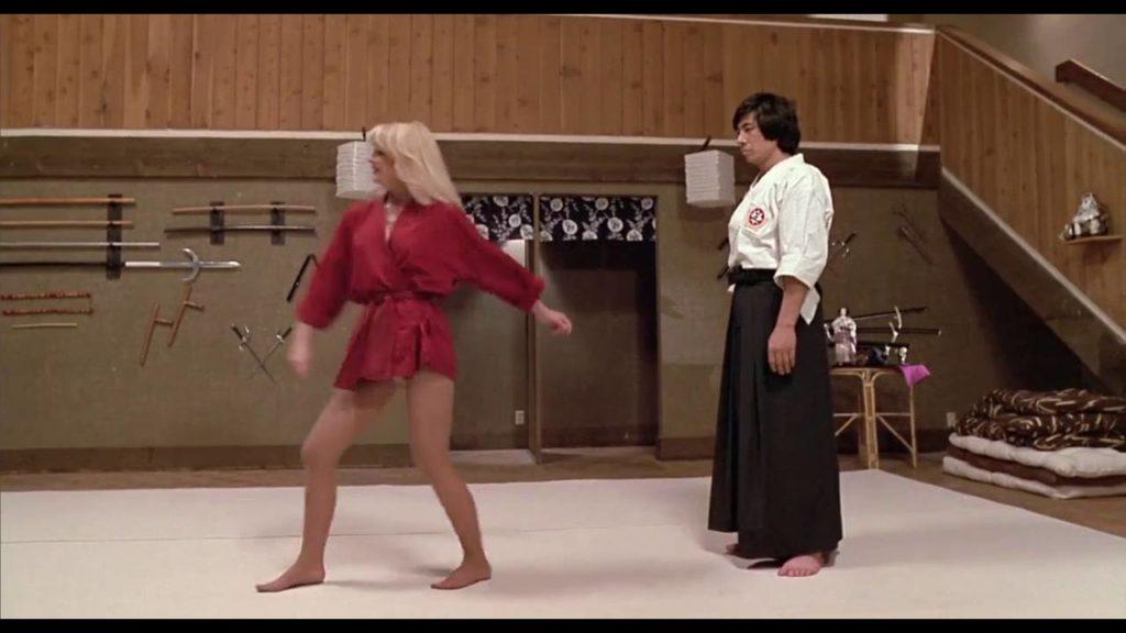 Zemsta Ninja, Sho Kosugi: Cathy, jesteś pewna, że w komplecie do treningu nie było spodni?